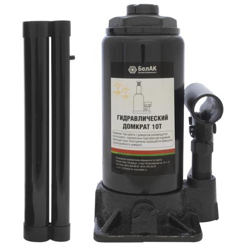 Домкрат бутылочный гидравлический БелАвтоКомплект БАК.00045 (10 т) черный