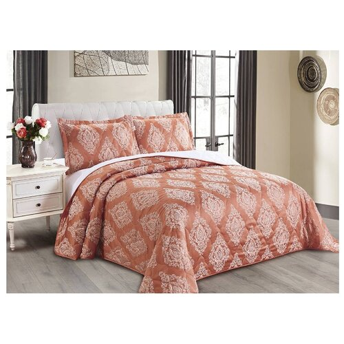 Комплект с покрывалом Cleo Versailles 220х240 см, красный комплект с покрывалом cleo versailles 240х260 см коричневый