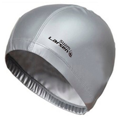 Шапочка для плавания Larsen 7530 серебристый шапочка larsen ls78 pink neon