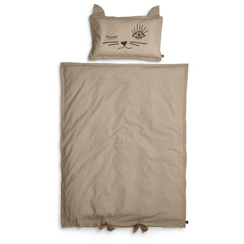 Купить Elodie комплект в кроватку Kindness Cat (2 педмета) коричневый, Постельное белье и комплекты