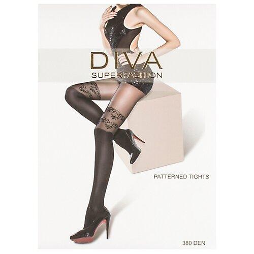 Колготки DIVA SUPERFASHION DK-61 380 den, размер free size, черный колготки diva superfashion secret 128 380 den размер free size черный черный
