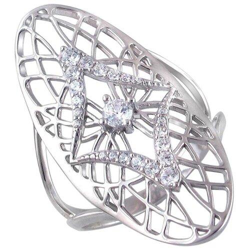 Эстет Кольцо с 23 фианитами из серебра 01К1510497, размер 17 ЭСТЕТ