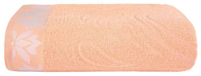 Простыня махровая жаккард цвет: персик 150х200 см