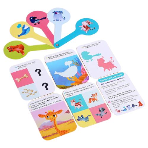Купить Развивающая игра IQ-ZABIAKA Животные 4777740, Обучающие материалы и авторские методики
