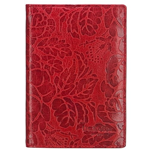Обложка для паспорта Dr.Koffer X510130-212-12, красный