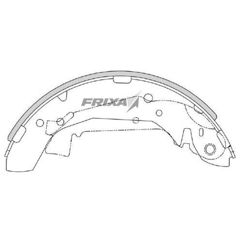 Барабанные тормозные колодки задние Frixa FLH02F для Hyundai Elantra, Hyundai Matrix (4 шт.) hyundai matrix фото
