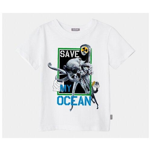 Купить Футболка Gulliver Save My Ocean размер 164, белый, Футболки и майки