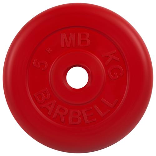 Диск MB Barbell Стандарт MB-PltC26 5 кг красный диск mb barbell стандарт mb pltc26 10 кг зеленый
