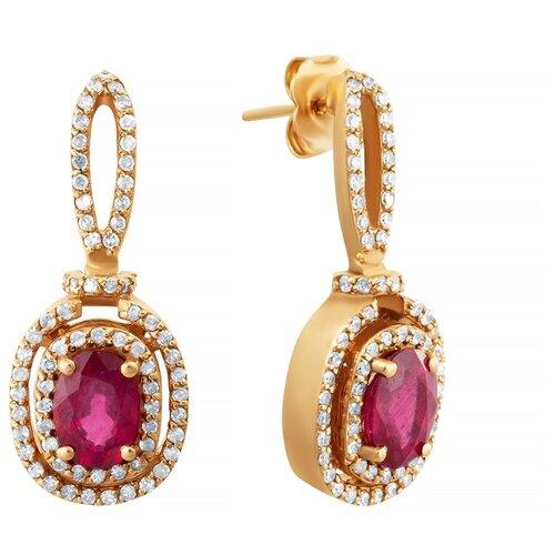 JV Золотые серьги с бриллиантами, рубином EZ0J594DT6-SR-RU-PINK