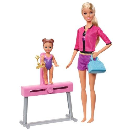 Купить Набор кукол Barbie Спортивная карьера Тренер по гимнастике блондинка, 28 см и 10 см, FXP39, Куклы и пупсы