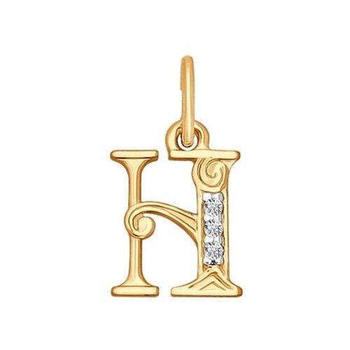 SOKOLOV Кулон-буква «Н» с фианитами 033827