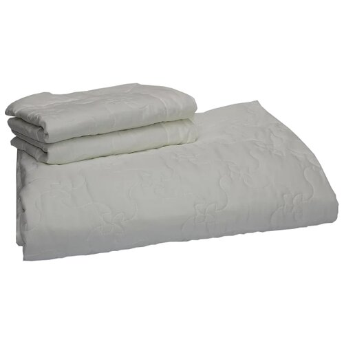 Комплект с покрывалом Нежность Настурция 220х240 см с наволочками, белый