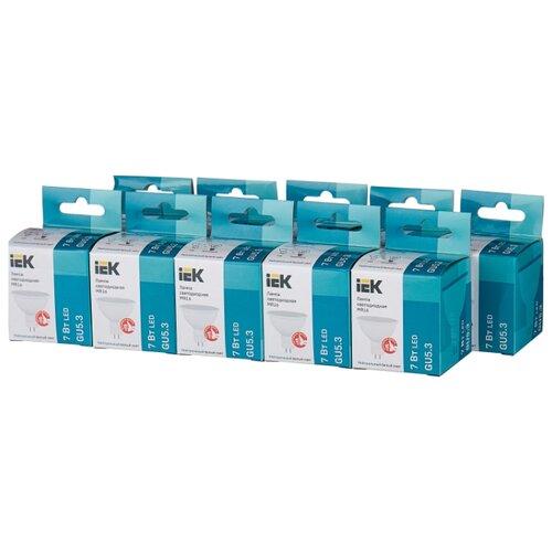 Упаковка светодиодных ламп 10 шт IEK LLE-230-40, GU5.3, MR16, 7Вт