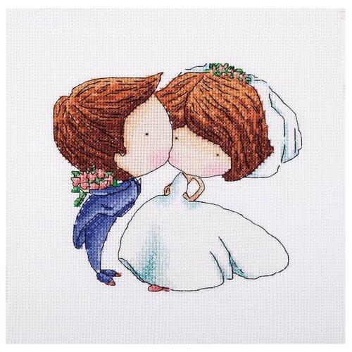 Купить Klart Набор для вышивания Поцелуй нежности 18 x 15 см (8-198), Наборы для вышивания