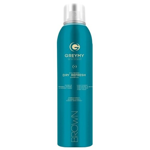 GREYMY сухой шампунь Volumizing Dry Refresh Shampoo Brown, 150 мл