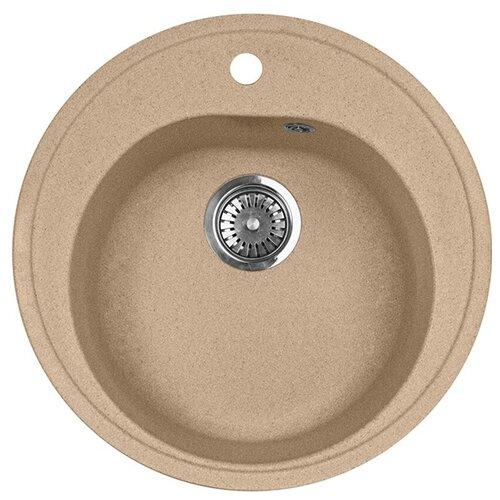 Фото - Врезная кухонная мойка 51 см А-Гранит M-08 песочный врезная кухонная мойка 61 см а гранит m 09 песочный