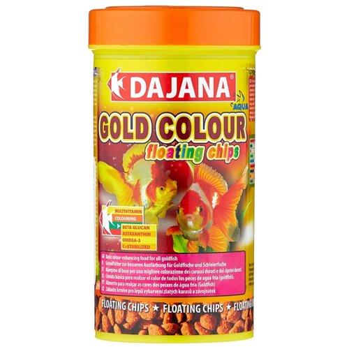 Сухой корм для рыб Dajana Pet Gold Colour Floating Chips 250 мл 100 г sera sera fd mixpur корм для рыб сублимированный мотыль трубочник дафния криль 100 мл