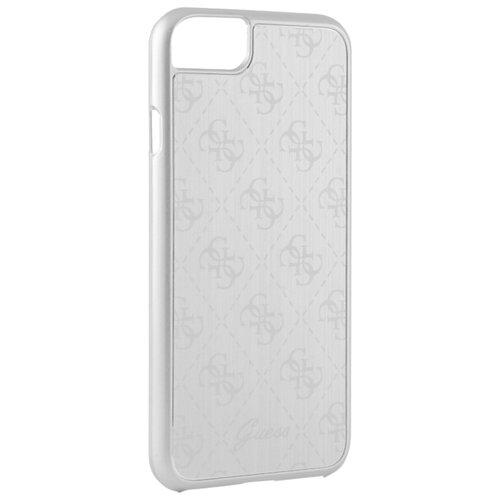 Чехол-накладка CG Mobile Guess 4G Aluminium Plate Hard для Apple iPhone 7/iPhone 8 серебристый недорого