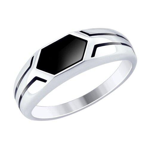 SOKOLOV Кольцо из серебра с эмалью 94012519, размер 21 the yard