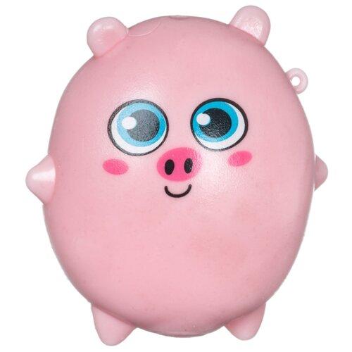Игрушка-мялка BONDIBON Липучка-тянучка Поросенок (ВВ4301) розовый