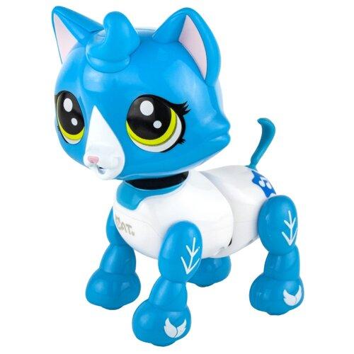 Купить Робот 1 TOY Robo Pets Котёнок белый/голубой, Роботы и трансформеры