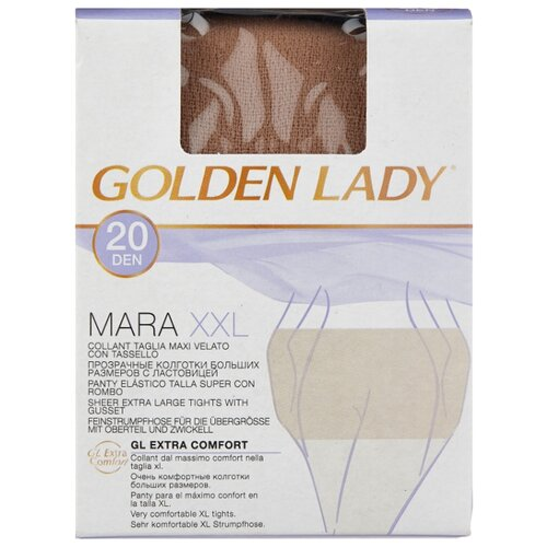 Колготки Golden Lady Mara 20 den, размер 6-XXL, melon (бежевый) шлем melon decent double grey матовый xl xxl 58 63 см 162703