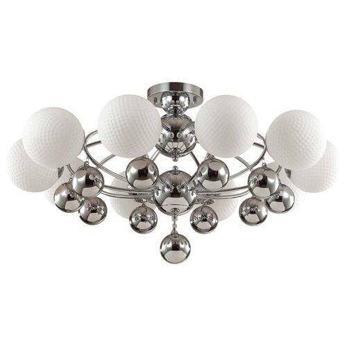 люстра потолочная светодиодная odeon light saturno 114 вт хром Люстра потолочная Odeon Light Jolly, E27, 10x60 Вт, 220 В