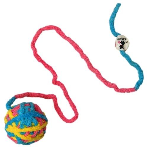Игрушка Шерстяной клубок с мататаби для кошек. Разноцветный