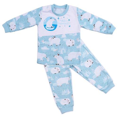 Комплект одежды Babyglory размер 80, голубой фото
