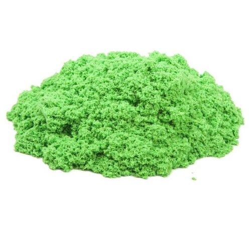 Кинетический песок Космический песок базовый, зеленый, 1 кг, картонная пачка