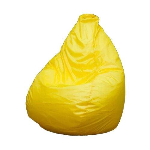 Пуффбери кресло-мешок Груша Оксфорд L желтый оксфорд