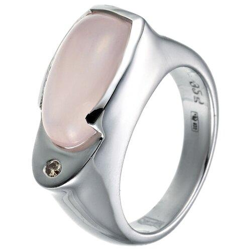 цена на JV Кольцо с бриллиантом, кварцем из серебра FGR-01017-DN-RQ-WG, размер 17.5