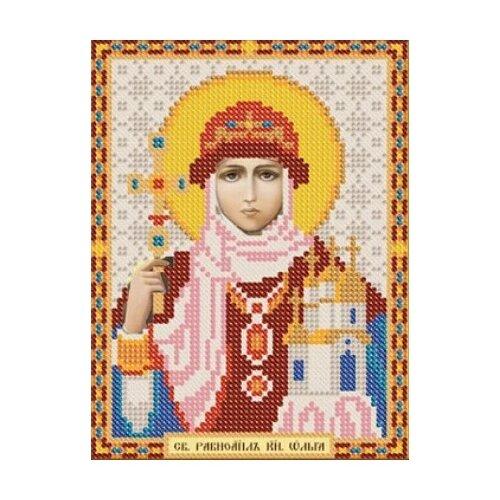 Купить Канва для вышивания с рисунком NOVA SLOBODA Св. Равноапостольная Княгиня Ольга БИС-5040 13 х 17 см с рисунком