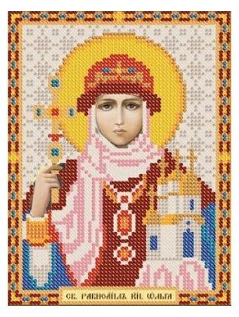 Канва для вышивания с рисунком NOVA SLOBODA Св. Равноапостольная Княгиня Ольга БИС-5040 13 х 17 см