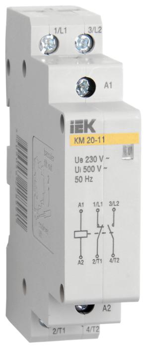 Модульный контактор IEK MKK10-20-11 20А