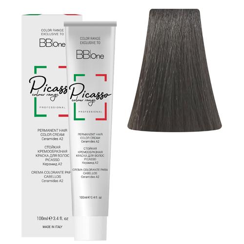 BB One Picasso Colour Range Перманентная крем-краска, 100 мл, 6.11 интенсивный пепельный натуральный темный блонд bb one picasso colour range перманентная крем краска 100 мл 8 1 пепельный натуральный светлый блонд