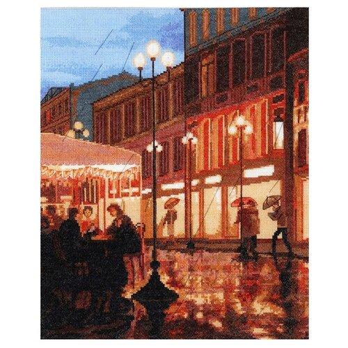 Купить Hobby & Pro Набор для вышивания Дождь в городе 32 х 39 см (712), Наборы для вышивания