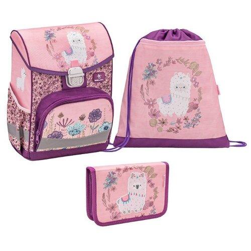 Belmil Ранец Click Llama с наполнением (405-45/819/SET), розовый/фиолетовый