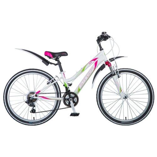 Подростковый горный (MTB) велосипед Stinger Latina 24 (2018) белый 12.5