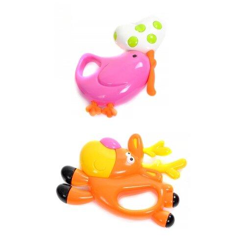Купить Набор Elefantino Олень и птичка розовый/оранжевый, Погремушки и прорезыватели