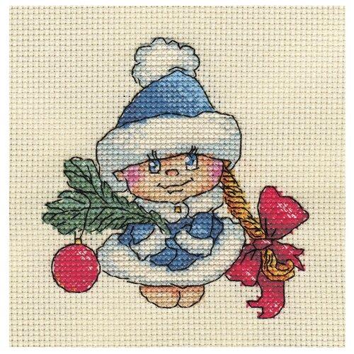 Купить Klart Набор для вышивания крестом Снегурочка 12.5 x 13.5 см (8-150), Наборы для вышивания