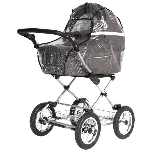 Купить Аксессуар для колясок Trottola дождевик на коляску люльку со светоотражением reflect plus classic прозрачный, Аксессуары для колясок и автокресел