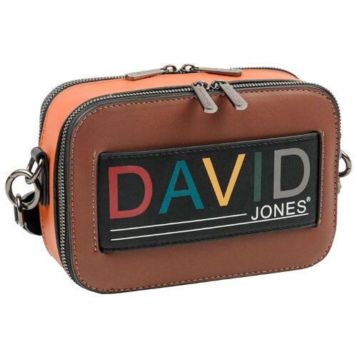 Сумка кросс-боди DAVID JONES 6138-1, искусственная кожа, коричневый