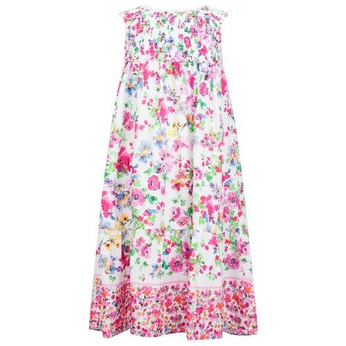 Платье Ermanno Scervino размер 152, цветочный принт/белый/розовый/зеленый