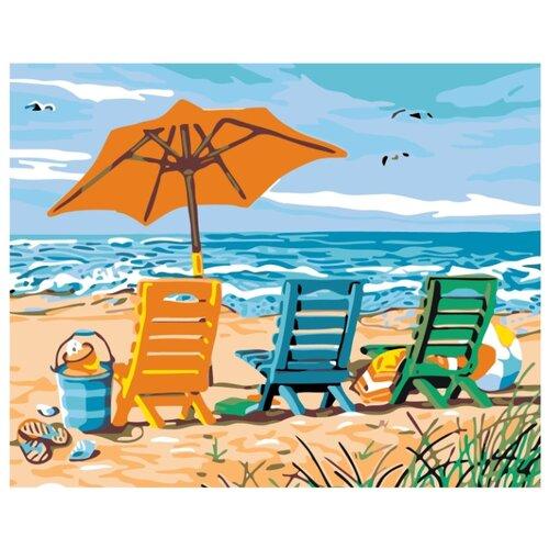 На пляже Раскраска по номерам на холсте Живопись по номерам KTMK-85143 40х50 дальние странствия раскраска по номерам на холсте живопись по номерам ktmk 96447 40х50