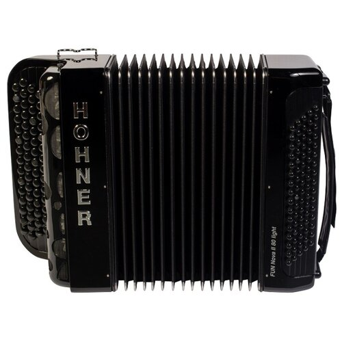 Баян Hohner Fun Nova II 80 light, B-Stepped аккордеоны hohner a4262 nova ii 72 sw b grif