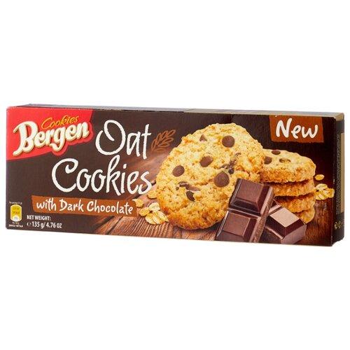цена на Печенье Bergen Oat Cookies with Dark Chocolate 135 г