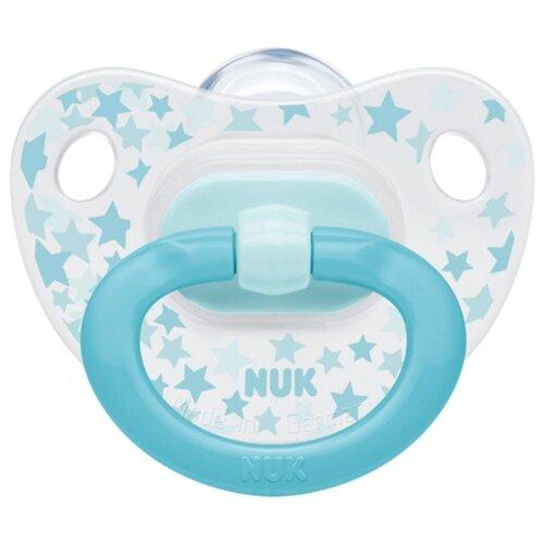 Купить Пустышка силиконовая ортодонтическая NUK Classic Happy Days 6-18 м (1 шт) звезды, Пустышки и аксессуары