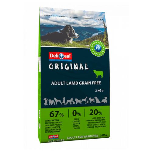 Корм для собак Delimeal (3 кг) Original Adult Lamb Grain Free