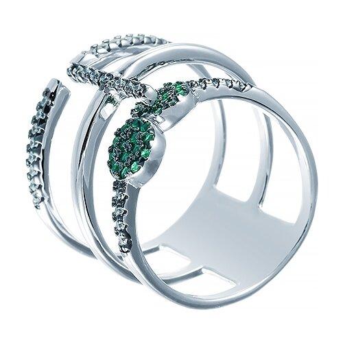 JV Кольцо с фианитами из серебра R26045-W3-KO-001-WG, размер 17.5 jv кольцо с фианитами из серебра r27103 w3 ko 001 wg размер 16 5